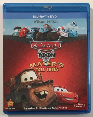 Disney Pixar Cars Toon Mater's Tall Tales Blu-ray / DVD 2-Disc Combo Movie with Case and Artwork!