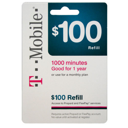 Free t mobile 100 prepaid refill card gin bonus for T mobile refill