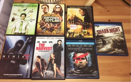 DVD / BLU-RAY LOT (7 MOVIES YOU GET THEM ALL) :D