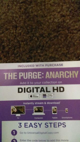The Purge: Anarchy ultraviolet HD copy