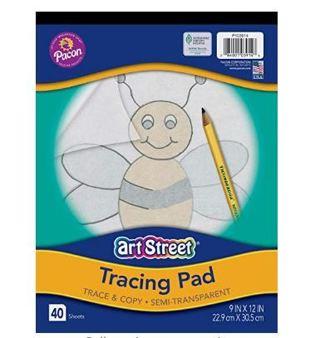 "Art Street Tracing Paper Pad, Translucent, 9"" x 12"", 40 Sheets"