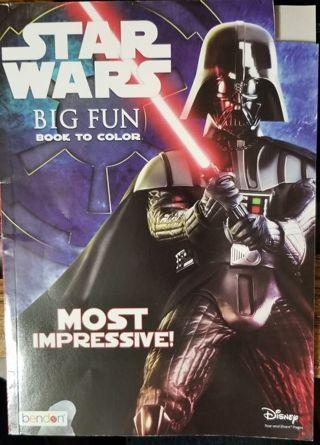 STAR WARS BIG FUN book to color & more