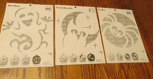 3 Pumpkin Carving Patterns
