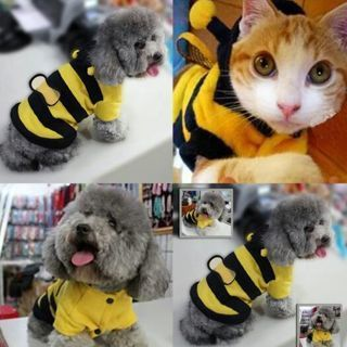 Coat Pet Costume Bee Cat T-shirt Dog Apparel Puppy Outfit Clothes Cute Hoodie