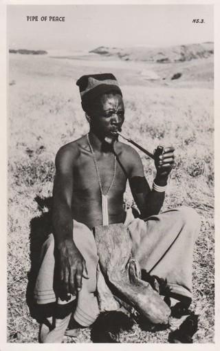 Vintage Unused Postcard: Overseas: Africa: Zulu: Pipe Of Peace
