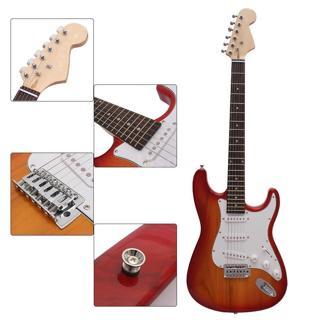 Electric Guitar Basswood Body w/ GigBag Picks Hex Driver Sunburst BrandNew L1O7