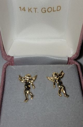 (っ◔◡◔)っ❁♥ 14k Angel Cherub Earrings ♥❁