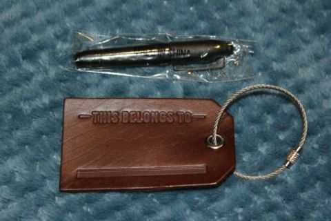 Marlboro Leather Luggage Tag & Marker, New Collectible