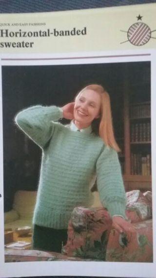 Horizontal Banded Sweater