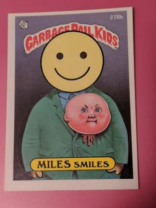 1987 Topps GPK Miles Smiles 278b Sticker Card