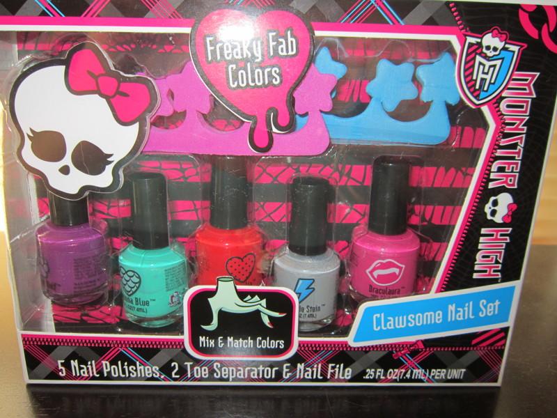 Free: New Monster High Nail Polish Set Clawsome Nail Set - Makeup ...