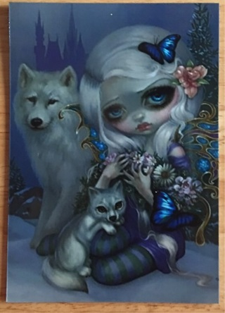 "BIG EYES WITH SILVER WOLF - 3 x 4"" MAGNET"