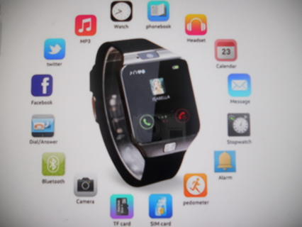 Bluetooth Smart Watch with Camera,
