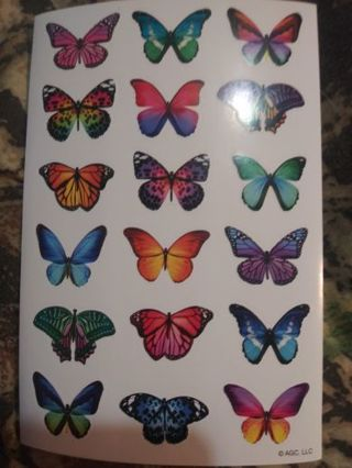 Butterfly sticker sheet Lowest gins around! No refunds! Nice stickers!
