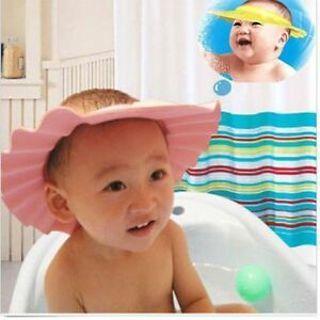 3Pcs Baby Kids Shampoo Bath Bathing Shower Cap Hat Wash Hair Shield