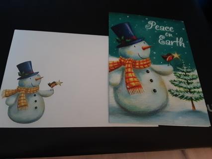 Snowman Christmas Card w/Matching Envelope