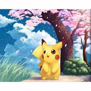 Small 5D diamond painting kit - kawaii anime manga Pikachu - DIY