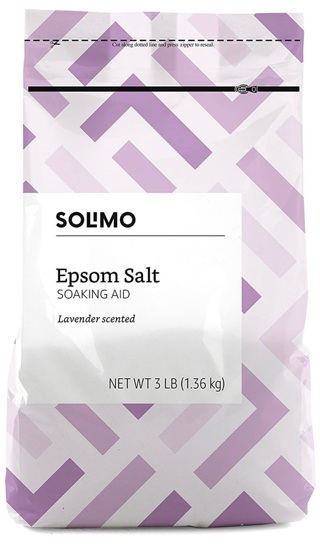 *LOWERED AMOUNT* Solimo Epsom Salt Soaking Aid, Lavender Scented, 3 Pound