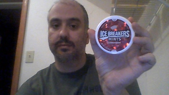 cinnamon icebreakers container red