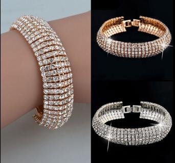 Charm Crystal Rhinestone glitter Cuff Bracelet Bangle Jewelry Gift