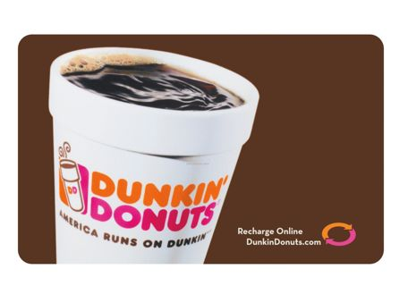 ⚡HYPER LOW GIN⚡ $20.00 Dunkin' Donuts E-Gift Card ($5.00 x 4 = $20.00)* - Digital delivery!