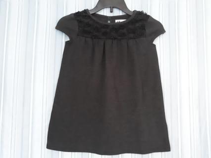 NWOT H&M BLACK DRESS SIZE 2-4Y