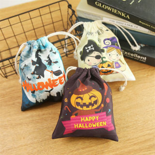 [GIN FOR FREE SHIPPING] Halloween Candy Fabric Bag Sweet Trick Or Treat