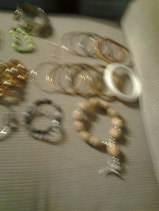 A lot of bracelets