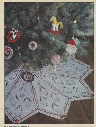 Christmas Tree Skirt Patterns Free.Free Vintage Crochet Pineapple Christmas Tree Skirt Pattern