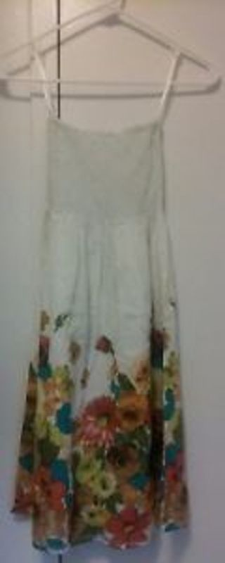 Ladies 100% Cotton Summer Dress Floral Brand Christina Love Size Small