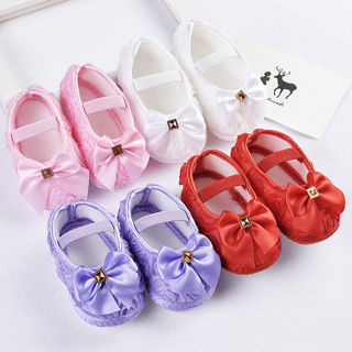 18M Infants Baby Girl Soft Crib Shoes Moccasin Prewalker