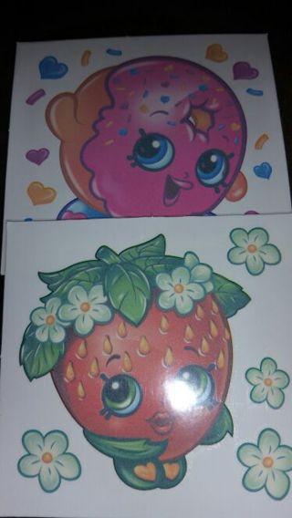 Shopkins tattoos strawberry and doughnut
