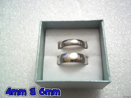 ❤️ ❤️ FOR COUPLES! 2 NEW Unisex STAINLESS STEEL WEDDING BANDS 2mm, 4mm & 6mm Widths Available! ❤️ ❤️