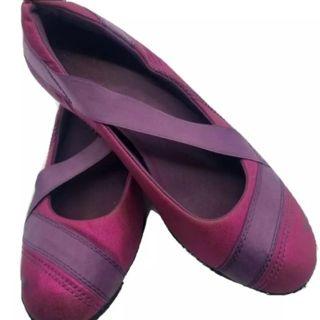 Puma girls pink ballet flats Sz 2.5 free ship