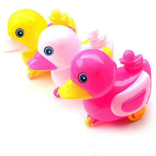 Creative Plastic Duck Animal Shaped Wind Up Toy Luminous Light-Up Toys Kids Toy