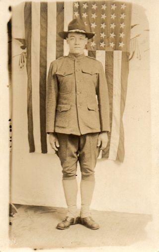 Vintage used postcard: 1917 Walter Hindes