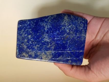 A 430 GRAM POLISHED LAPIS LUZULI TUMBLE FROM AFGHANISTAN