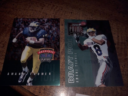 Two card lot football veteran wide receiver Amani Toomer both rookies New York Giants