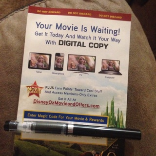 Digital movie reward.