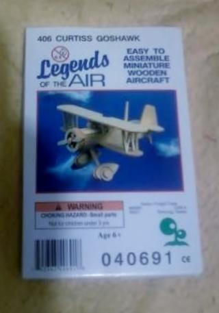 Wood Tri-plane kit (NIB - Curtis Goshawk)  Read description