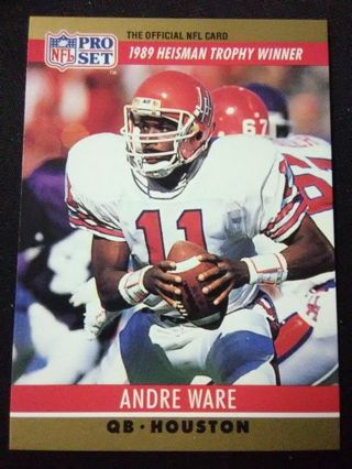 1990 NFL Pro Set Andre Ware Football Card #19