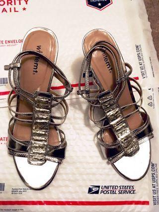 Shiny Heel Shoes Cute straps