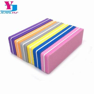 5Pcs Nail Files 100/180 Mini Strong Sponge Nail Buffer File Colorful Sanding Nail Art Tools Limas