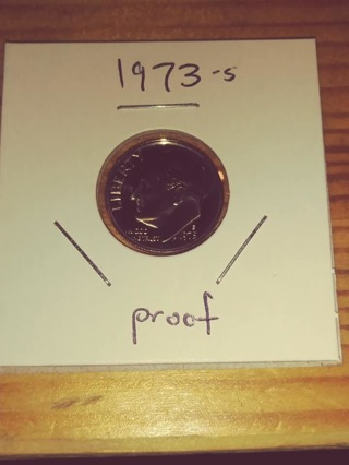 1973-S Proof Cameo Roosevelt Dime! 85