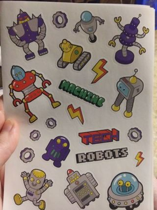 Robots stickers