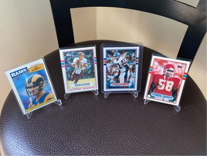 4 VINTAGE NFL ROOKIES!