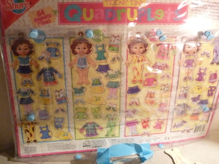 Shure teeny tiny magnetic dolls and lots of clothes