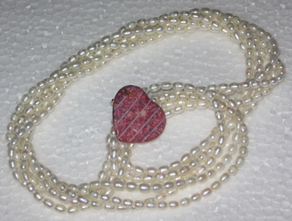 vintage fw pearls fossil clasp