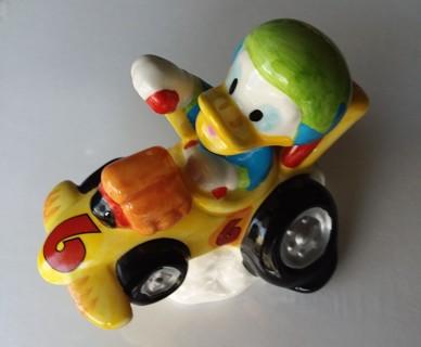 Disney Collectible Donald Duck Ceramic Race Car by Enesco