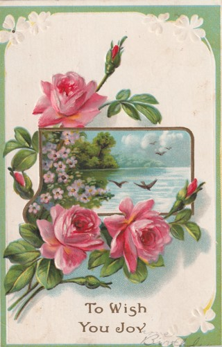 Vintage Used Postcard: To Wish You Joy